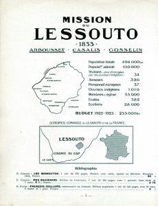 Atlas des missions : champ du Lessouto