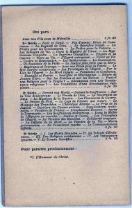 Liste des conférences prononcées par Raoul Allier entre 1914 et 1916