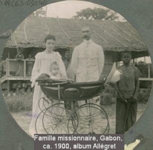 Famille missionnaire, Gabn ca. 1900, album Allégret