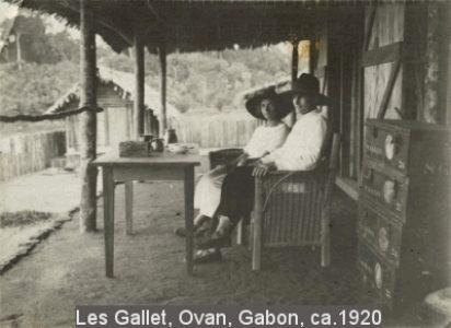 Les Gallet, Ovan, Gabon, ca. 1920