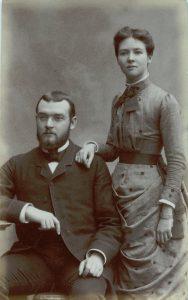 Ernest Mabille et son épouse Marguerite Bain, avant leur départ au Lessouto