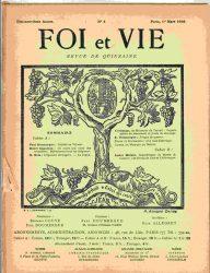 Journal Foi et Vie Couverture du numéro du 1er mars 1916