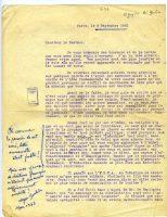 Lettre de Nguyen Ai Guoc à Ulysse Soulier Paris, 28 septembre 1921 - page 1