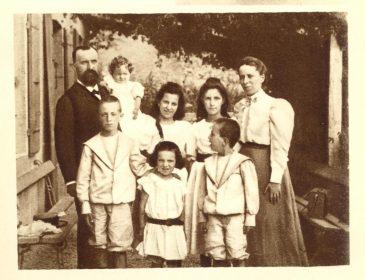 Jean Bianquis et sa famille en 1898
