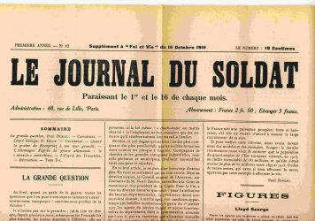 Le Journal du Soldat, supplément à Foi et Vie Numéro du 16 octobre 1916