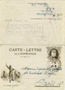 Lettre de Parisot à Jean Bianquis - Poste militaire : annonce de la mort de Laffay Il relate dans quelles circonstances Laffay a été tué. Il a célébré la cérémonie d'inhumation dans des conditions difficiles car le régiment se trouvait sur une position exposée.