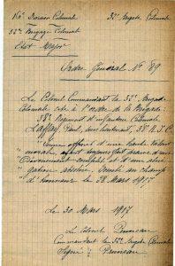 Citation de Laffay à l'ordre de la brigade