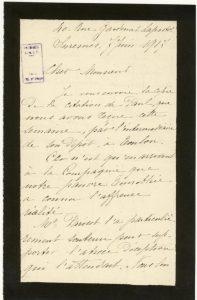 Courrier du père de Laffay à Jean Bianquis -Suresnes, le 7 juin 1917