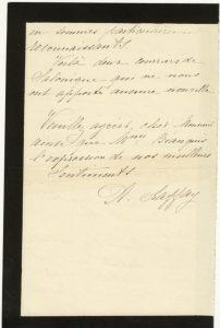 Courrier du père de Laffay à Jean Bianquis - Suresnes, le 7 juin 1917