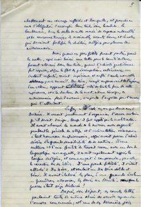 Récit manuscrit de Maurice Leenhardt - p. 5