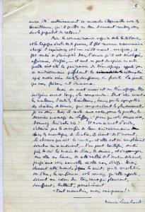 Récit manuscrit de Maurice Leenhardt - p. 6