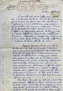 Récit manuscrit de Maurice Leenhardt - p. 1