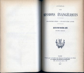 Journal des missions - 1917 - couverture