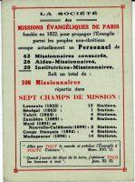 Tract de présentation de la SMEP - Année 1912 La situation de la Société des missions à la veille de la Guerre