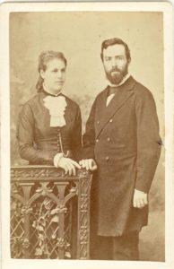 Frédéric Christol et son épouse Jenny Palmer en 1882, avant leur départ pour le Lesotho