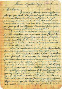 Juillet 1917, page 1 - E. Mabille lance l'idée d'un voyage d'un groupe de Bassoutos à Paris