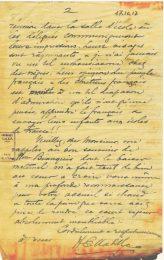 Lettre d'Ernest Mabille à Jean Bianquis 17 octobre 1917, page 2