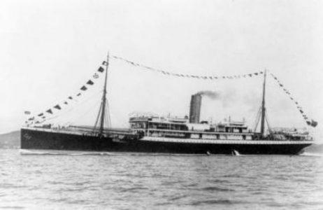 La catastrophe du Mendi Bateau à vapeur utilisé comme transport de troupes par les Britanniques - Coulé accidentellement le 21 février 1917 : 616 victimes, toutes sud-africaines, dont 607 soldats indigènes du SANLC