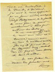 Guy Parson à Jean Bianquis - novembre 1915, page 3 Depuis l'hôpital militaire de Versailles