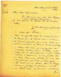 Guy Parson à Jean Bianquis - lettre du 15 août 1916, page 1 Copie de la lettre du 30 juin reçue de Joseph Ranaivo : celui-ci confie à son beau-frère ses dernières volontés en cas de décès