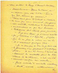 Guy Parson à Jean Bianquis - lettre du 15 août 1916, page 3 Copie de la lettre du 30 juin reçue de Joseph Ranaivo : celui-ci confie à son beau-frère ses dernières volontés en cas de décès