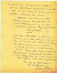 Guy Parson à Jean Bianquis - lettre du 15 août 1916, page 4 Copie de la lettre du 30 juin reçue de Joseph Ranaivo : celui-ci confie à son beau-frère ses dernières volontés en cas de décès