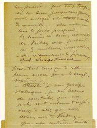 """Guy Parson à Jean Bianquis - carte postale, 31 octobre 1916 """"De la boue jusqu'aux genous... Magré cela tout marche à merveille, on avance tous les jours presque..."""""""
