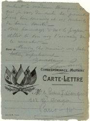 Guy Parson à Jean Bianquis - carte postale, 10 octobre 1916
