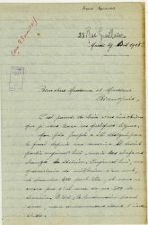 Aimée Ranaivo à Jean Bianquis - avril 1915 - page 1