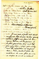 Aimée Ranaivo à Jean Bianquis - mai 1915 - page 1