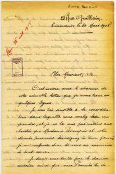 Aimée Ranaivo à Jean Bianquis - mars 1915 - page 1