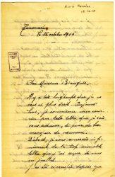 Aimée Ranaivo à Jean Bianquis - octobre 1915 - page 1