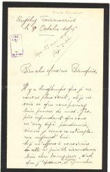 Aimée Ranaivo à Jean Bianquis - octobre 1916 - page 1