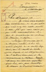 Charles Ranaivo à Jean Bianquis - octobre 1915 - page 1