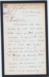 Charles Ranaivo à Jean Bianquis - décembre 1916 - page 1