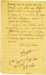 Courrier de Joseph Ranaivo, décembre 1915 - page 4 Dans les tranchées