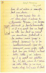 Courrier de Joseph Ranaivo, juillet 1915 - page 5 Hyères, Var